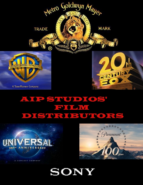 Major Film Studios that have distributed AIP Studios' Films